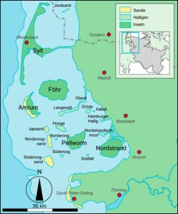 Wattenmeer Karte